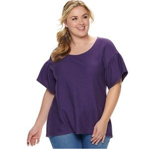 EVRI Tops - NWT Evri short bell sleeve top